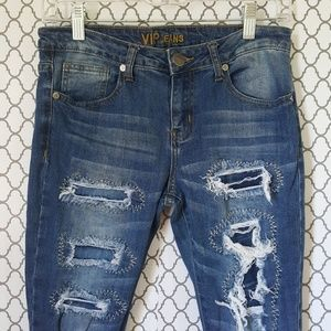 VIP Jeans Distressed skinny medium blue